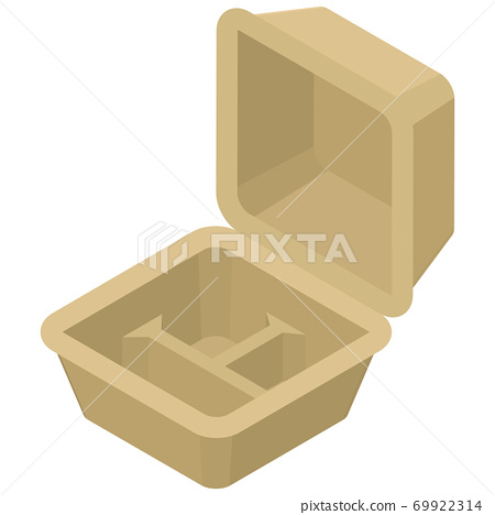 Empty take-out foot pack with dividers 69922314