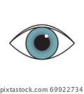 vector illustration of an open human eye 69922734