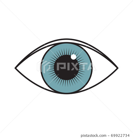vector illustration of an open human eye 69922734