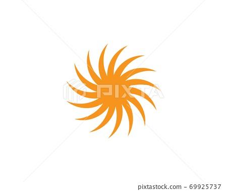 sun ilustration logo vector 69925737