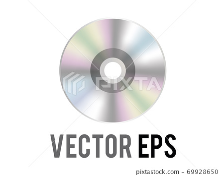 The isolated vector silver optical disc icon, used to represent CD, DVD and related film, music content, albums 69928650