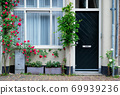 Door and window of an old house in Netherlands 69939236