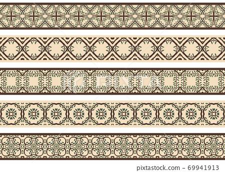 Seamless decorative borders 69941913