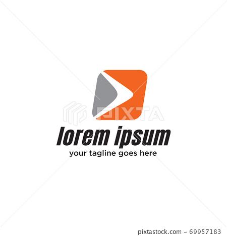 Boomerang weapon icon logo design template 69957183