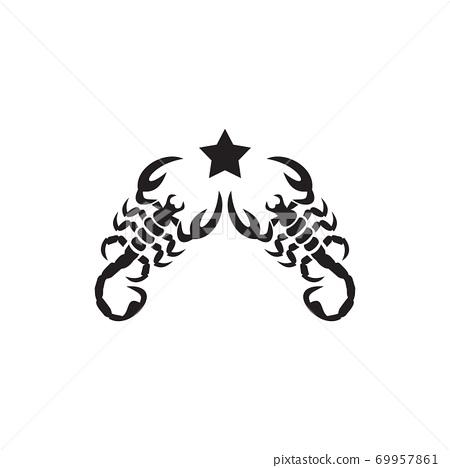 Scorpion logo design vector template 69957861