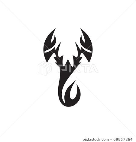 Scorpion logo design vector template 69957864