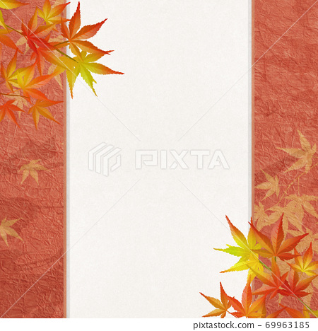 感覺秋天的日式背景素材 69963185