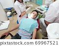Dentist examining boy mouth 69967521