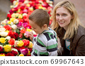 Mother and son happy family 69967643