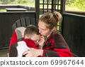 Mother and son happy family 69967644