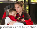 Mother and son happy family 69967645