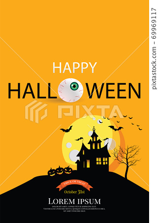 Happy Halloween. illustration vector design. 69969117