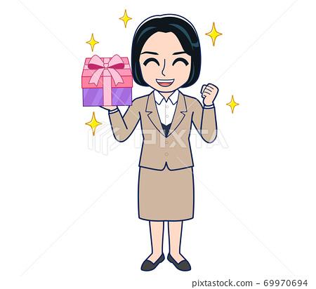 Bank clerk woman in a suit 69970694