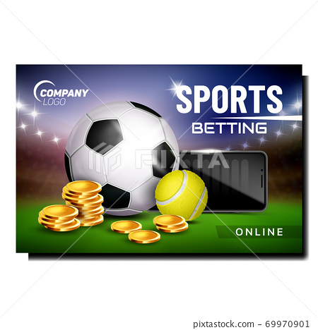 Sports Betting Creative Promotional Poster Vector 69970901
