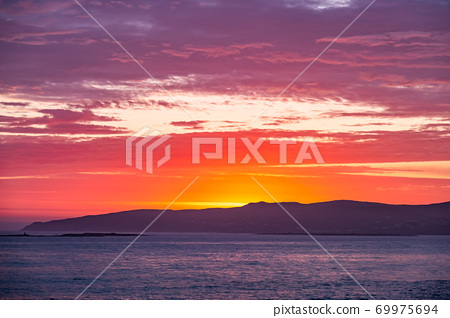 Sunset above Aran Island - Arranmore - County Donegal, Ireland 69975694
