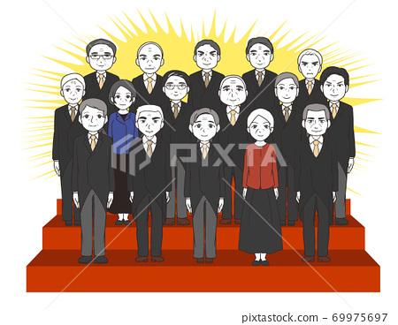 內閣成立的集體照,多數是帶效果線的老年人 69975697