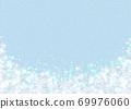 雪晶白背景浅蓝色 69976060