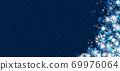 雪晶白背景蓝色 69976064