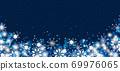 雪晶白背景蓝色 69976065