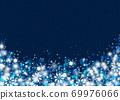 雪晶白背景蓝色 69976066