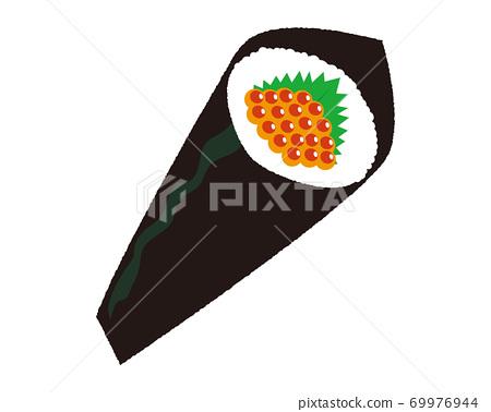 手捲壽司的矢量圖 69976944