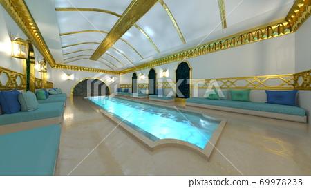 Luxurious swimming pool 69978233