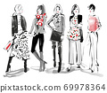 ◆ Fashion Croquis Series: Fall / Winter Coordination No.2_Red ◆ 69978364
