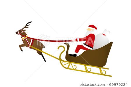 산타 클로스와 순록의 일러스트 69979224