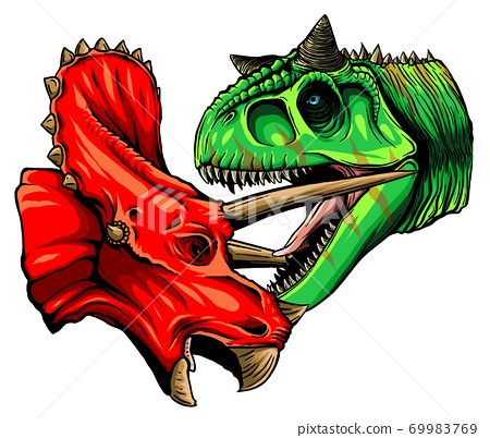 Dinosaur Vector Illustration Full Color suitable for any graphic design related project 69983769