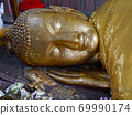부처님 4 대 성지 중 하나로 유명한 인도 쿠시나 가르에있는 涅槃堂의 열반 프랑스의 얼굴 69990174