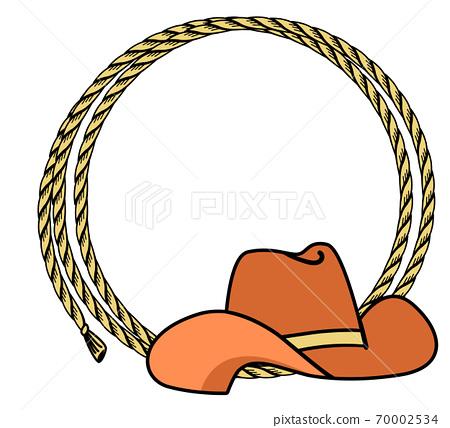 cowboy rope frame with western hat. vector... - stock illustration  [70002534] - pixta  pixta