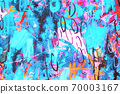 Hand drawn modern Multi Colored mixed media art canvas 70003167