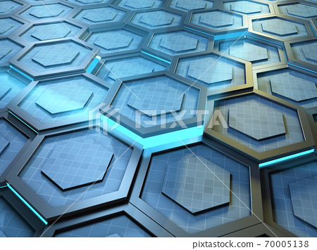 High technology background with hexagons 70005138