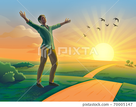 Sunset happiness 70005147