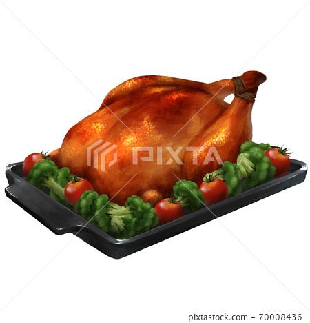 로스트 치킨의 일러스트 70008436