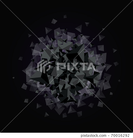 Geometric pattern, triangles vector background in black and gray tones eps10 70016292