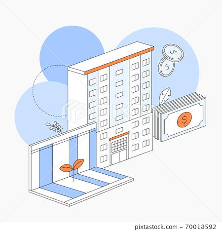 房地產矢量插圖訂閱存摺 70018592