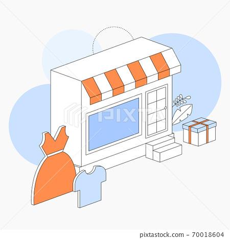 購物矢量插圖服裝店 70018604