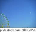 9 월의 아침에 본이자 요이 달과 히라 카타 파크 관람차 70025054