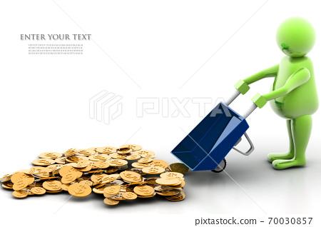 Gold Coin In Wheelbarrow 70030857