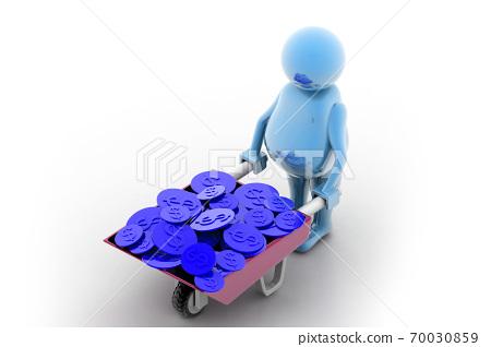 Gold Coin In Wheelbarrow 70030859