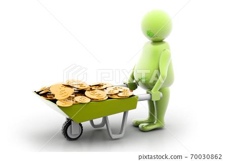 Gold Coin In Wheelbarrow 70030862
