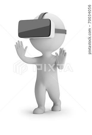 3d small people - virtual reality helmet 70034056