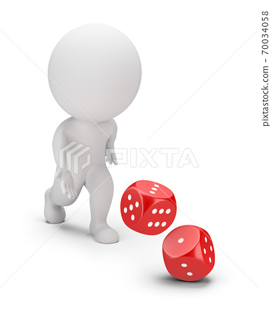 3d small people - dice 70034058