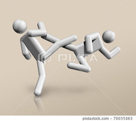 Taekwondo 3D icon, Olympic sports 70035863