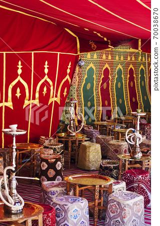 Arabic jaima with tables 70038670