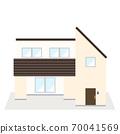 兩層現代房子的插圖 70041569