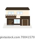 兩層現代房屋(帶車庫)的插圖 70041570