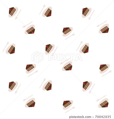 Chocolate cake pattern 70042835