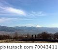 從風吹川水果公園俯瞰富士山和甲府盆地 70043411